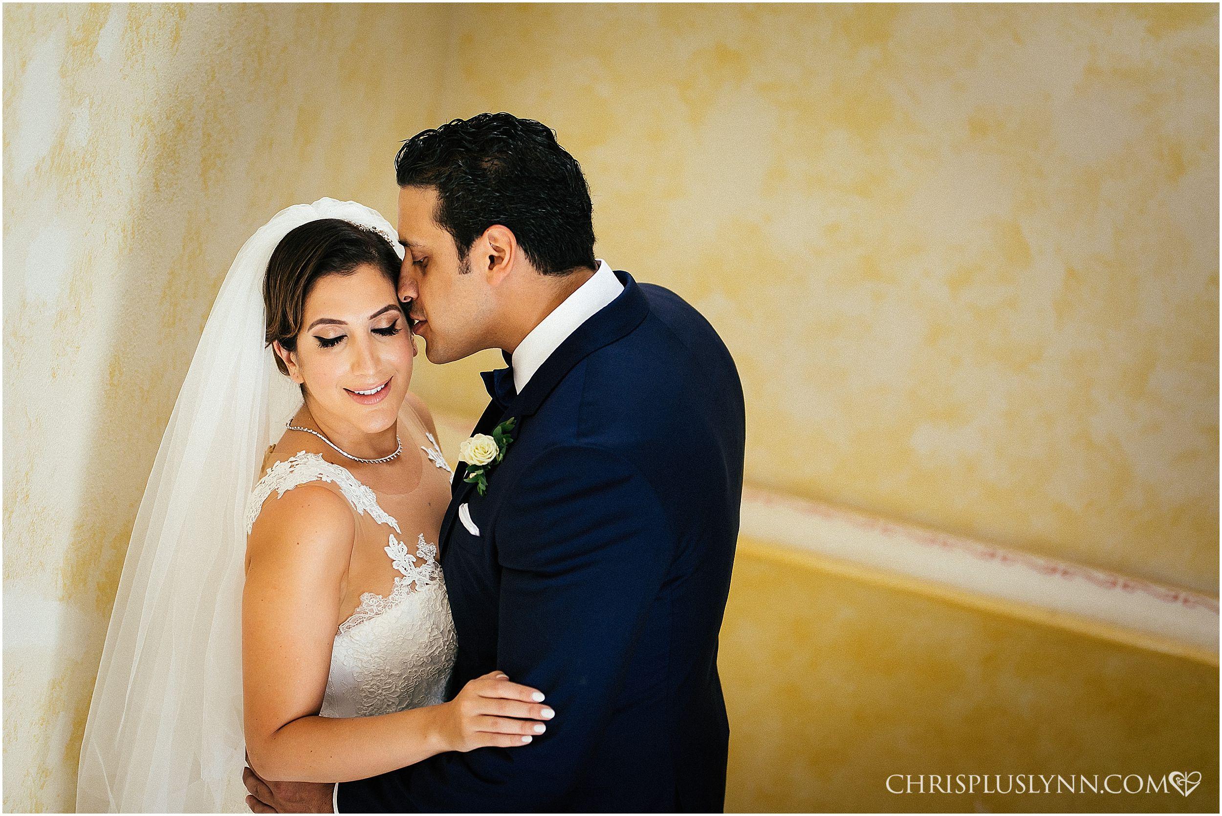 Cabo del Sol Wedding | First Look Bride + Groom Portrait